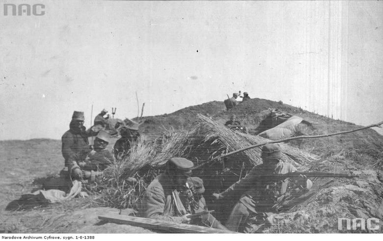 Żołnierze austro-węgierscy w okopach, między 1914 a 1918.