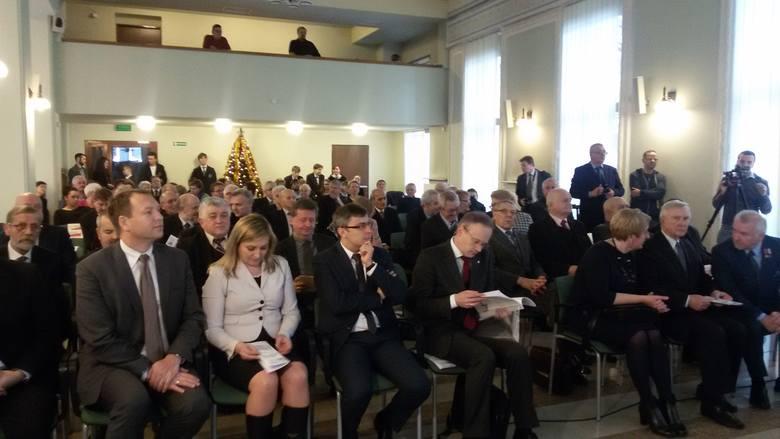 Uroczystość wręczenia Krzyży Wplności i Solidarnosci w Katowicach