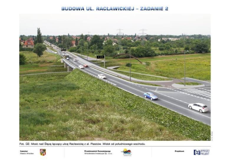Wrocław, most na Ślęzą pomiędzy Oporowem i Borkiem - wizualizacja