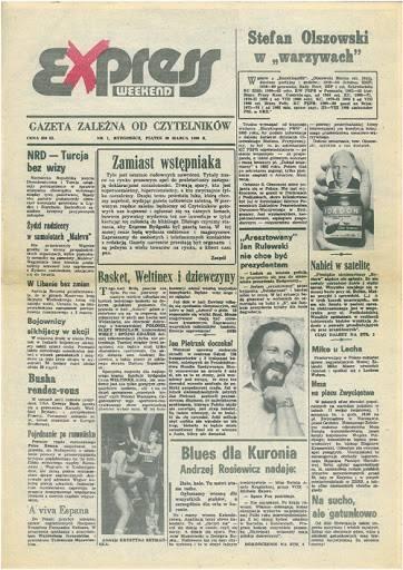 """30 lat temu tak wyglądała 1. strona """"Expressu"""""""