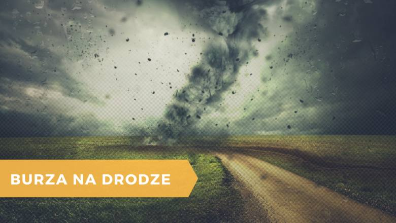 burza, burza na drodze, chmury, pogoda
