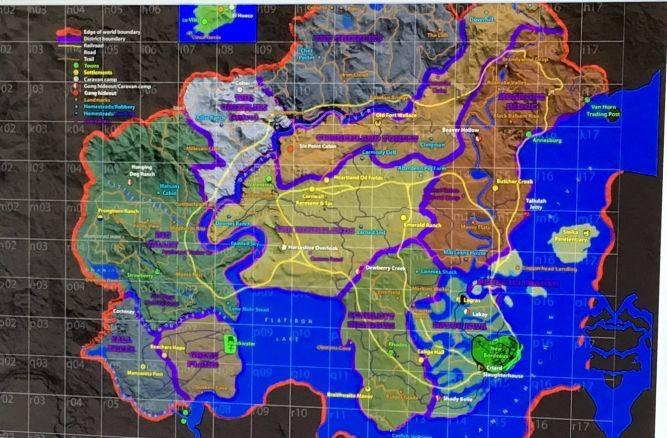 Wyciekła mapa kontynuacji Red Dead Redemption