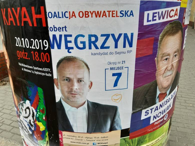 Incydent podczas kampanii wyborczej w Kędzierzynie-Koźlu. Poszło o plakaty polityków PiS i Koalicji Obywatelskiej. Sprawa trafiła na policję
