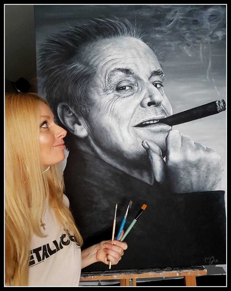 Pomorzanka Marta Judkowiak maluje niesamowite portrety. Vega, Nosowska, Nicholson, Bono Gibson... Trudno oderwać od nich wzrok! [ZDJĘCIA]