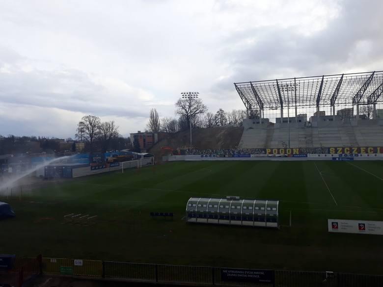 Stadion Pogoni przy Twardowskiego - stan na 19 lutego 2020  CZYTAJ TEŻ: Budowa stadionu Pogoni w Szczecinie. Najnowsze ZDJĘCIA i wieści z budowy stadionu