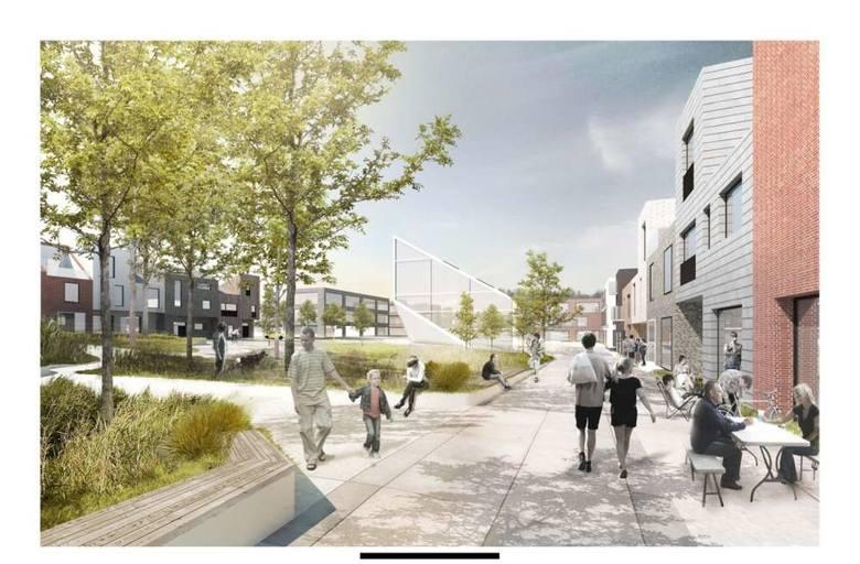 Boiska, parking oraz budynek zaplecza sanitarno-technicznego, które mają powstać w sąsiedztwie istniejącego Orlika oraz siłowni zewnętrznej