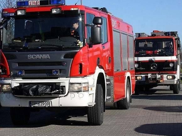 Ewakuacja budynku OHP w Namysłowie. Alarm bombowy