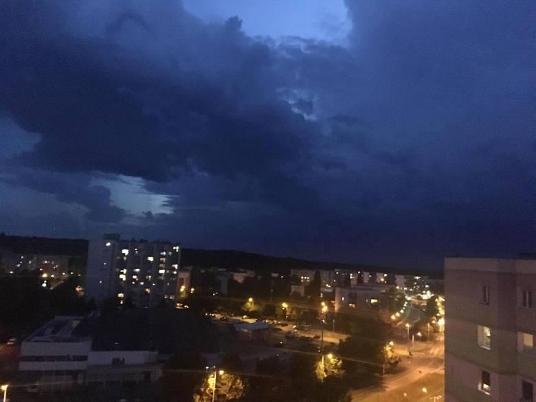 W środę, 1 lipca nad Lubuskiem przechodziły burze