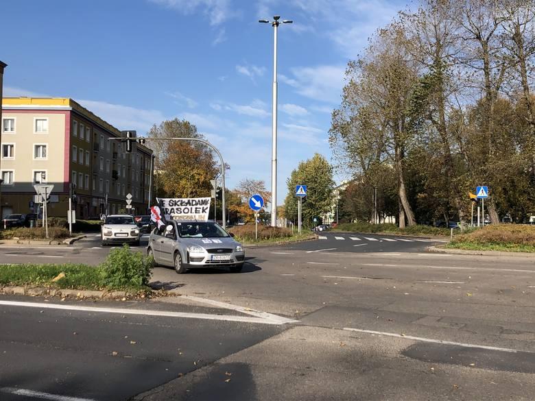 Strajk samochodowy w Koszalinie