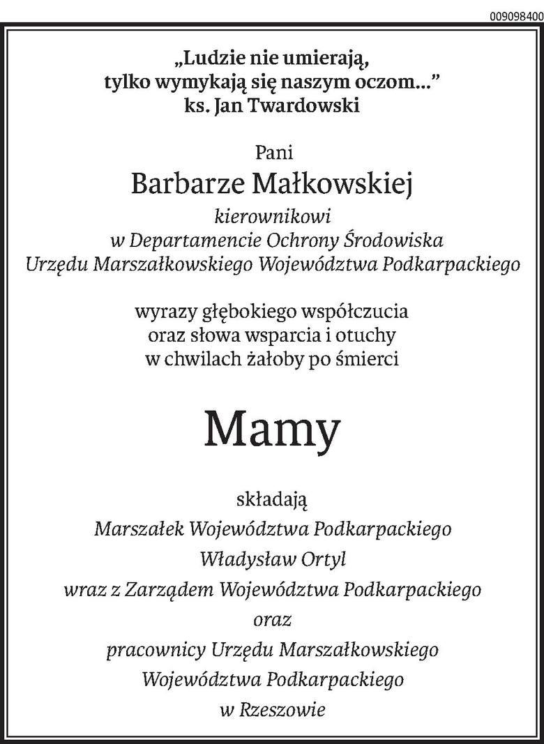 Nekrologi i kondolencje z dnia 15 maja 2019 roku