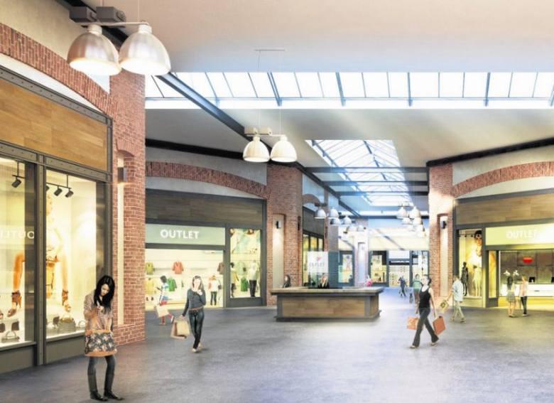 Tak będą wyglądały wnętrza Outlet Center.  Obiekt zostanie oficjalnie otwarty 15 kwietnia. Ma zapewnioną wyłączność na outletowe salony Reserved, Cropp,