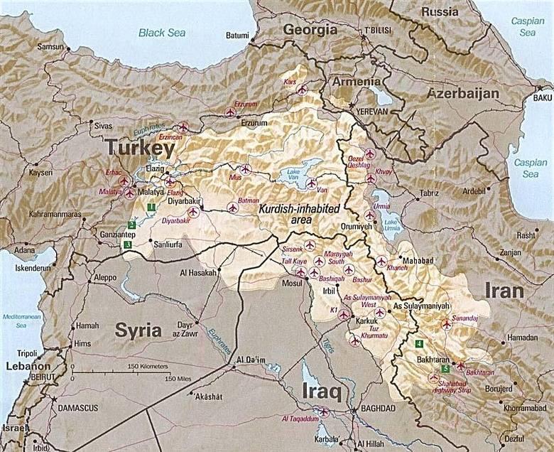 Tereny zamieszkane przez Kurdów