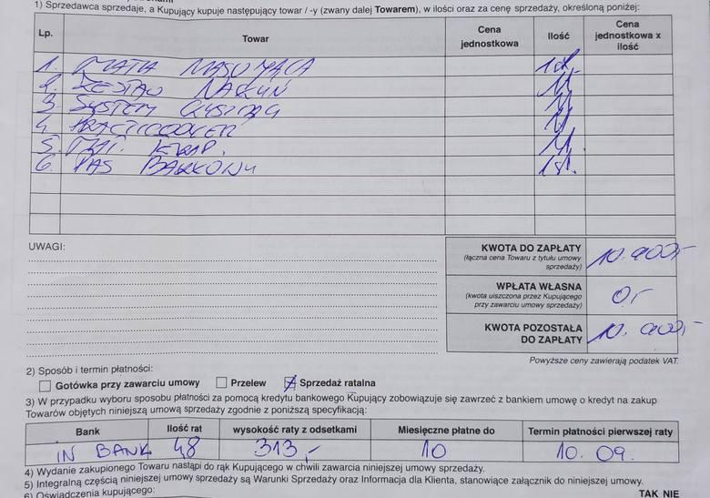 Tak wygląda rachunek wystawiony przez firmę Comfort Med Plus. Rzekome gratisy zostały jednak wliczone do kwoty zapłaty...<br />