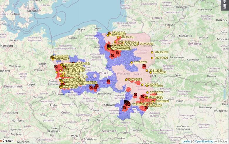 Mapa ASF ciągle się powiększa o nowe ogniska afrykańskiego pomoru świń