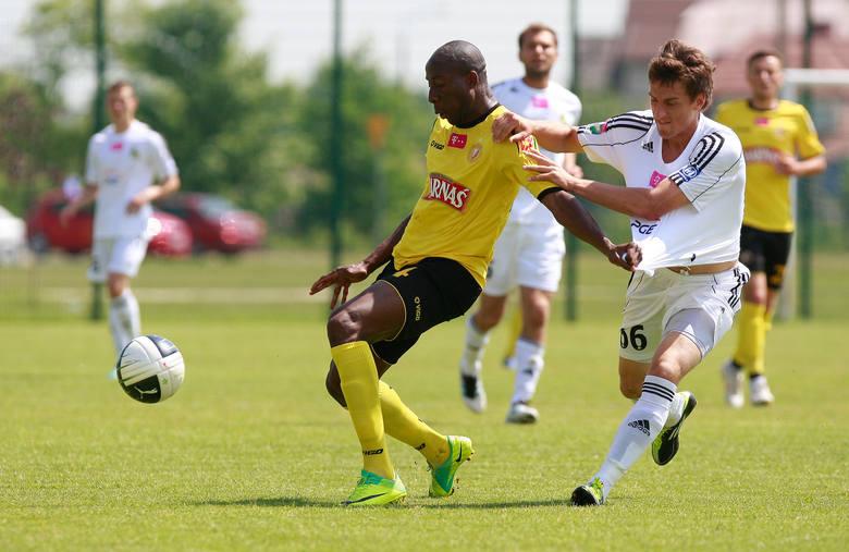 Aristide Bahin zdobył pierwszego gola dla Widzewa.
