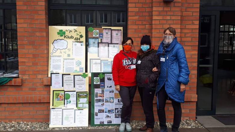 Klub ekologiczny 4H z Dąbrowy Górniczej działa wyjątkowo prężnie. Na zdjęciu jego założycielki: Anna Piwowar, Małgorzata Czapla i Ewa Mazurek