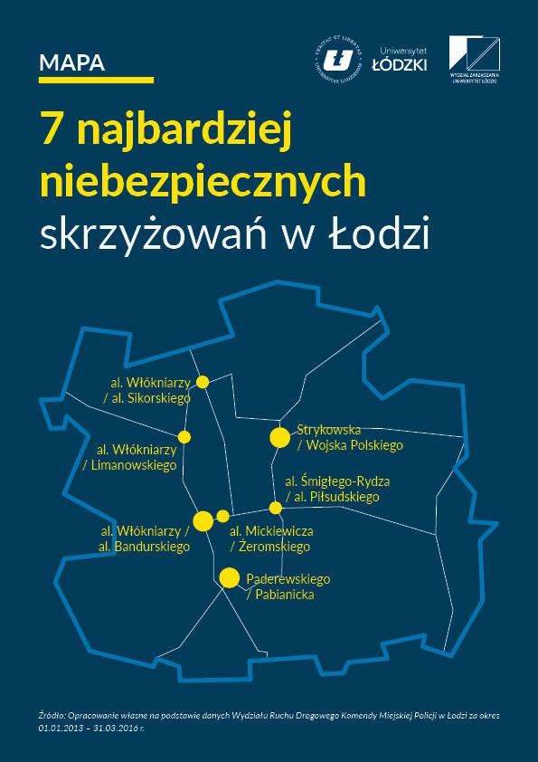 Najbardziej niebezpieczne skrzyżowania w Łodzi