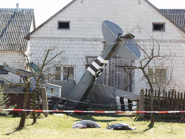 Katastrofa samolotu pod Czerwinem, 30.03.2002. Zdjęcia