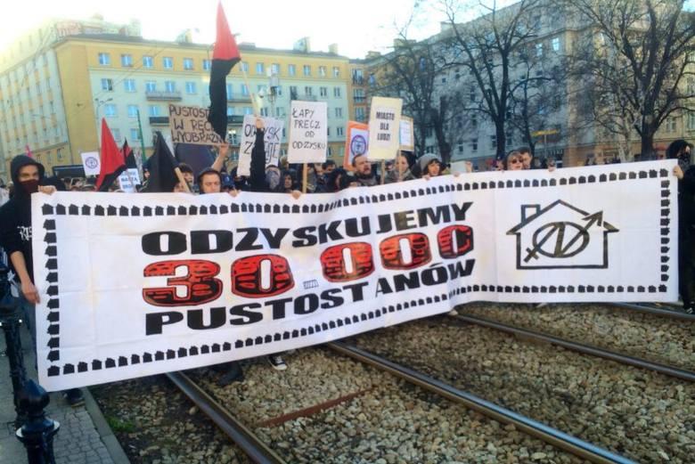 Marsz anarchistów w obronie skłotu Od:zysk