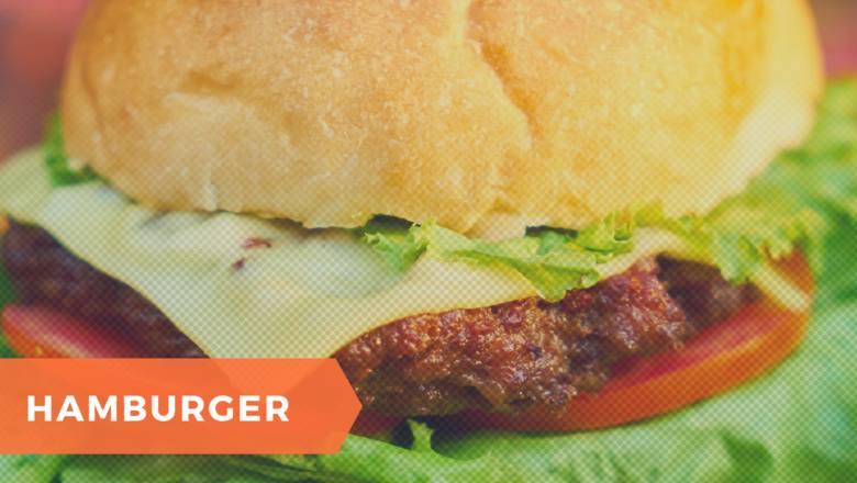 Rodzaj kanapki z kotletem z mięsa wołowego, serem, ketchupem oraz z różnymi dodatkami. Hamburger to typowo amerykańskie danie, będące także potrawą kuchni