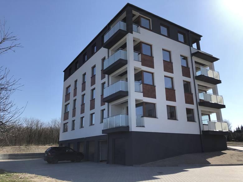 Nowe osiedle mieszkaniowe Duo Park w Sędziszowie.