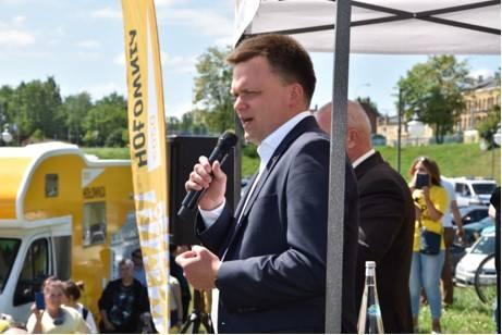 Wybory prezydenckie 2020. Szymon Hołownia w Tczewie: To państwo stoi na głowie. [Zdjęcia]