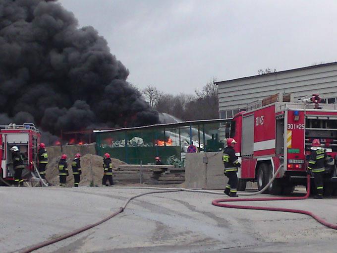 [wideo, zdjęcia] Pożar na ul. Toruńskiej