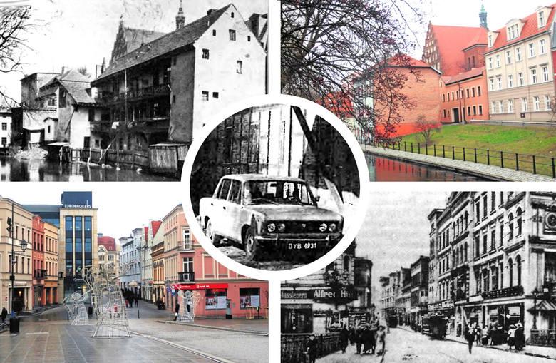 Stare zdjęcia Bydgoszczy. Popatrzcie, jak się zmienia nasze miasto. To samo miejsce, dwie różne fotografie, które dzieli wiele dekad.