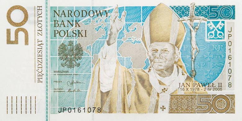 Pierwszym banknotem kolekcjonerskim uczczono 28. rocznicę wyboru Karola Wojtyły na Stolicę Piotrową