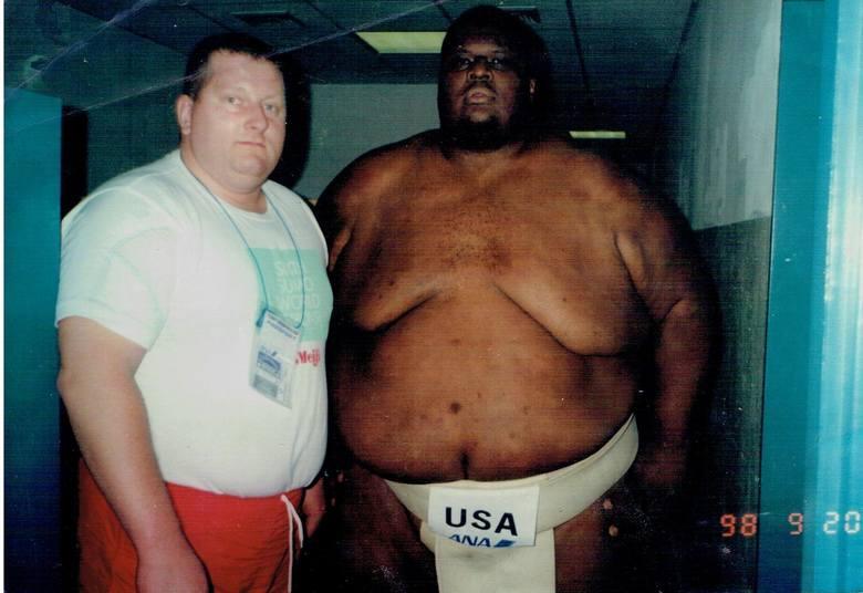 Wiesław Koluch z amerykańska legendą sumo Emanuelem Yarbrough