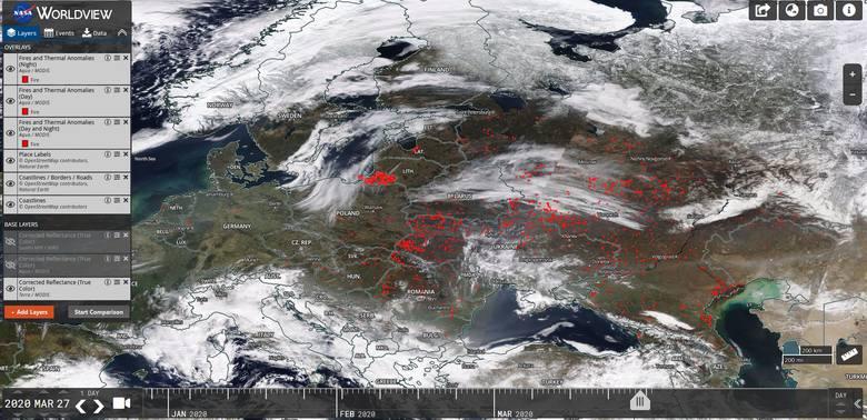 Smog w Rzeszowie pomimo małego ruchu drogowego i wysokich temperatur? Zanieczyszczone powietrze nadleciało z Ukrainy, Rosji i Białorusi