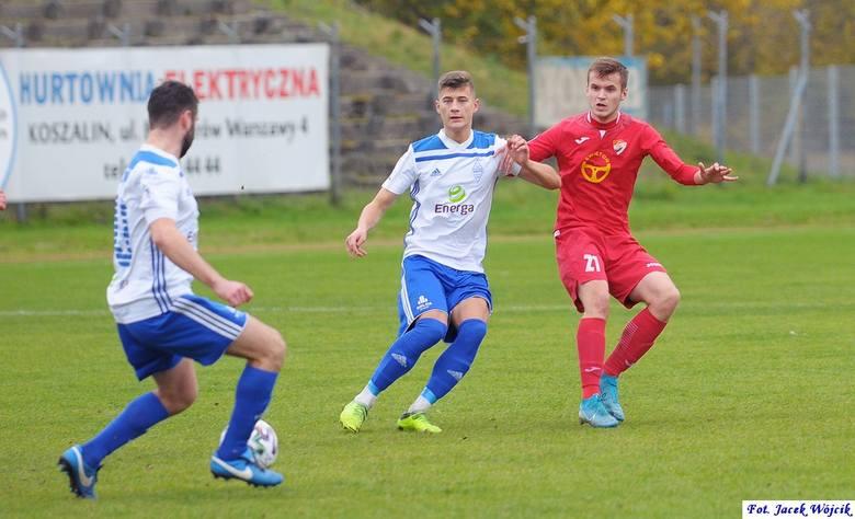 Ponad 2 miesiące czekali na wygraną u siebie piłkarze trzecioligowej Gwardii Koszalin. W 14. kolejce pokonali wyżej notowany Bałtyk Gdynia 2:0 (1:0)