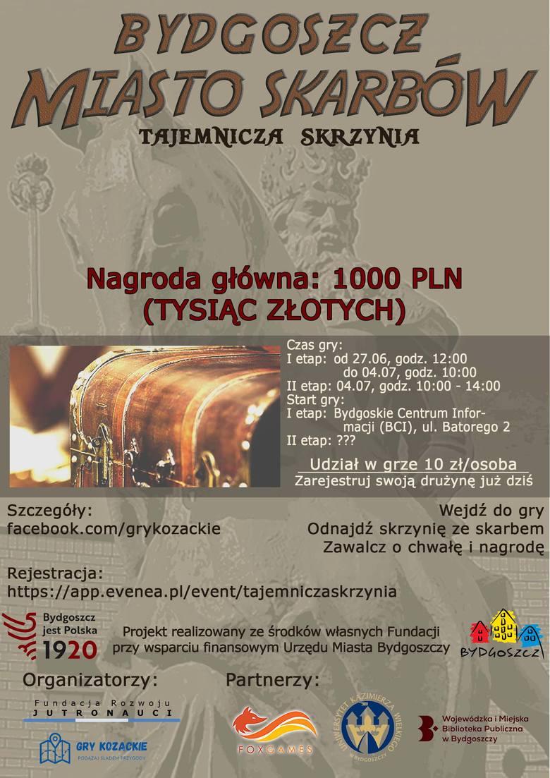 """Bydgoszcz - Miasto Skarbów. Weź udział w pierwszej tego lata grze miejskiej i znajdź """"Tajemniczą Skrzynię"""""""