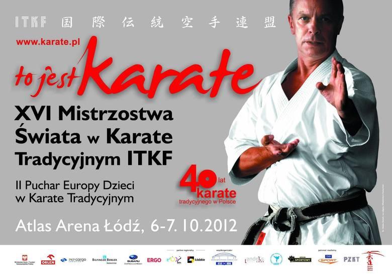 Plakat mistrzostw świata w karate tradycyjnym
