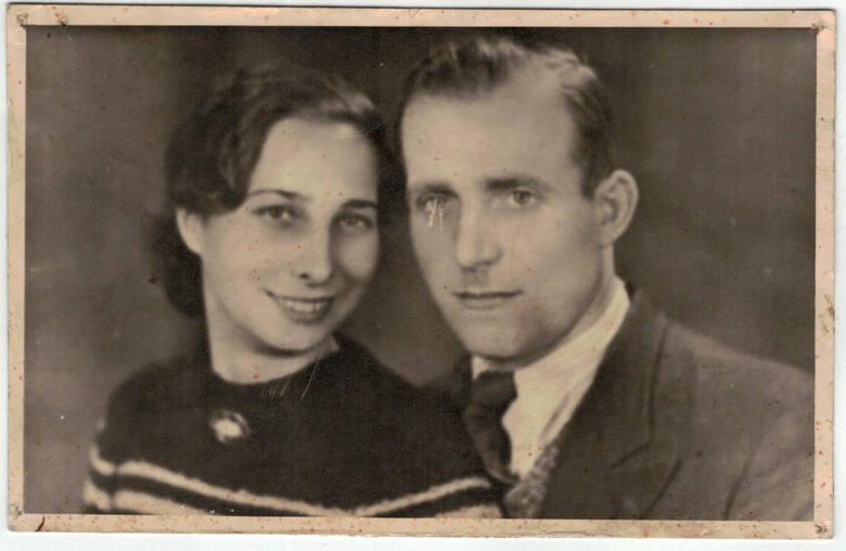 Czesław Cieślewicz z żoną Heleną (de domo Nowakowską).