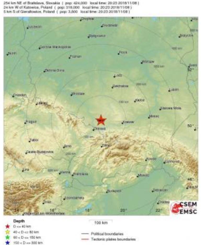 Wstrząs na Śląsku 8 listopada 2018 to jeden z najsilniejszych w ostatnim czasie. To było tąpnięcie w kopalni Budryk