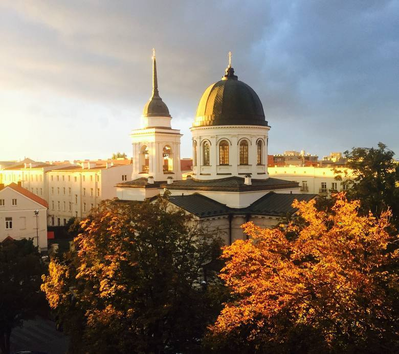 Cerkiew Św. Mikołaja (Białystok)Obszedłem większą część głównego traktu, który ogląda się w Białymstoku, i tę cerkiew uważam za jeden z najbardziej zasługujących