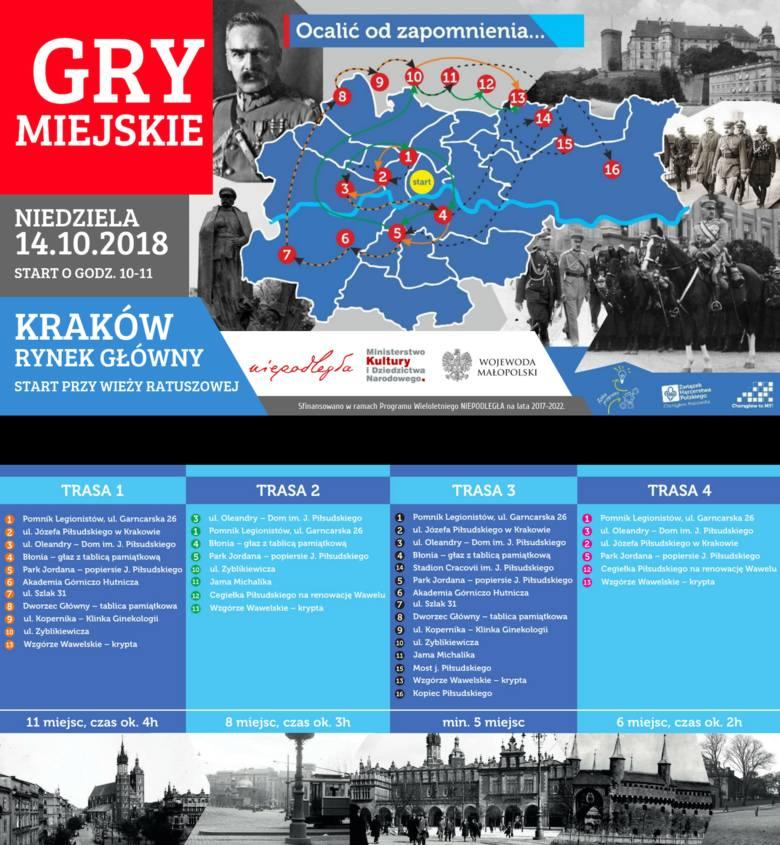 """Kraków. Gry miejskie """"Ocalić od zapomnienia"""" zaprowadzą uczestników w nieoczywiste miejsca związane z Piłsudskim"""