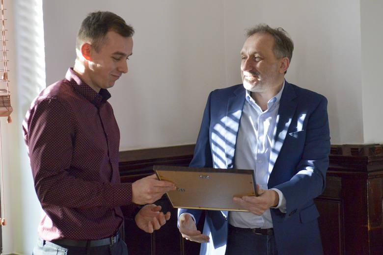 Marcin Staszczuk odebrał nagrodę za II miejsce w 60. Plebiscycie na Najpopularniejszego Sportowca Roku