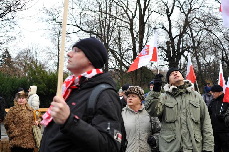 Marsz Wolności i Solidarności organizowany przez PiS w Warszawie.