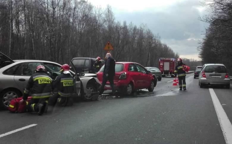 Wypadek na DK86 w Katowicach