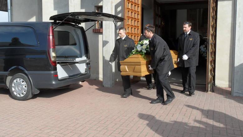 Pogrzeb 27-letniej Hanny w kościele św. Jadwigi w Tychach. Kobieta została zabita w Walentynki