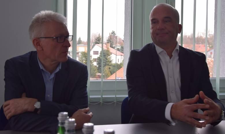 Konferencja prasowa w sprawie leków dla cukrzyków z udziałem profesorów: Jacek Różański i Jarosław Kaźmierczak