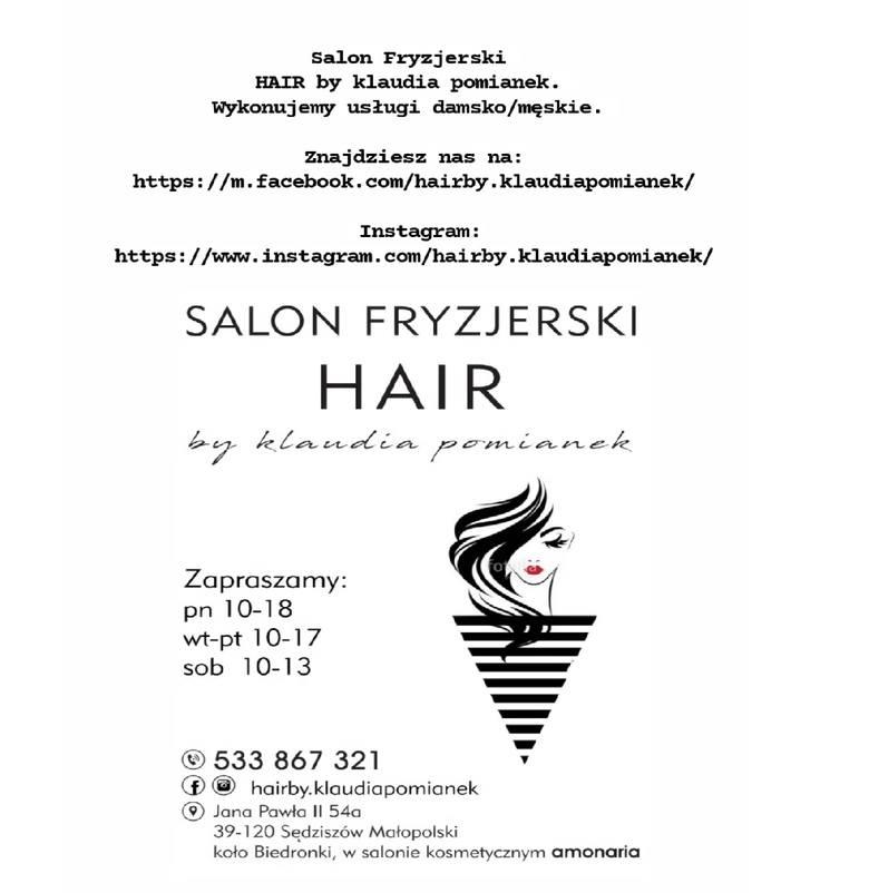 Najlepszy Salon Fryzjerski w Sędziszowie Małopolskim - HAIR by Klaudia Pomianek