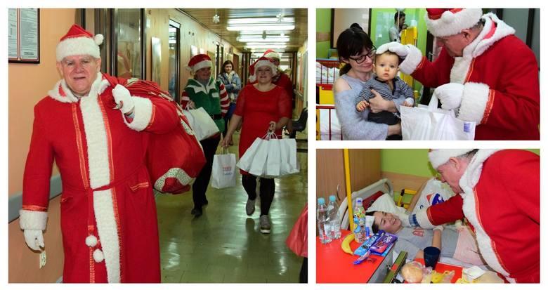 To już inowrocławska tradycja. Święty Mikołaj łudząco podobny do Grzegorza Karczmarka kolejny rok z rzędu odwiedził chore dzieci z inowrocławskiego szpitala.-