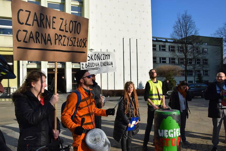Demonstracja antywęglowa w Katowicach