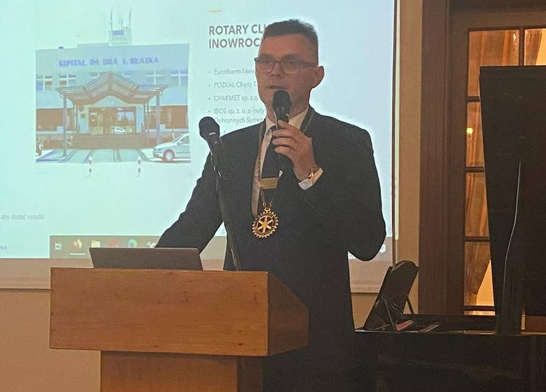 Rafał Mikołajewski, nowy prezydent Rotary Club Inowrocław
