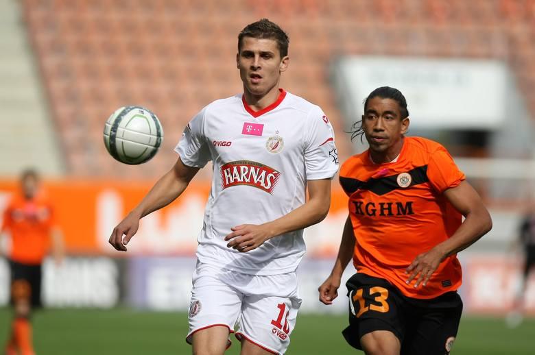 Napastnik z Białorusi Aleksandr Lebiediew strzelił dwie bramki