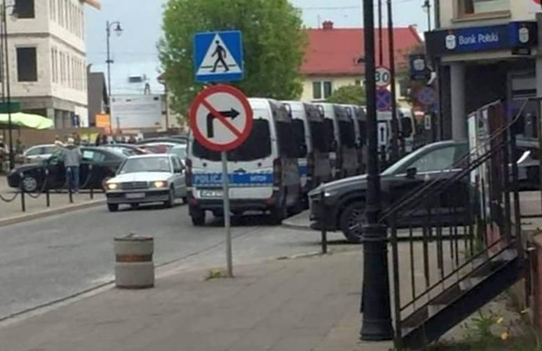 Obława na pedofila w Łapach. Zdjęcie zostało wykonane po drugim ataku.