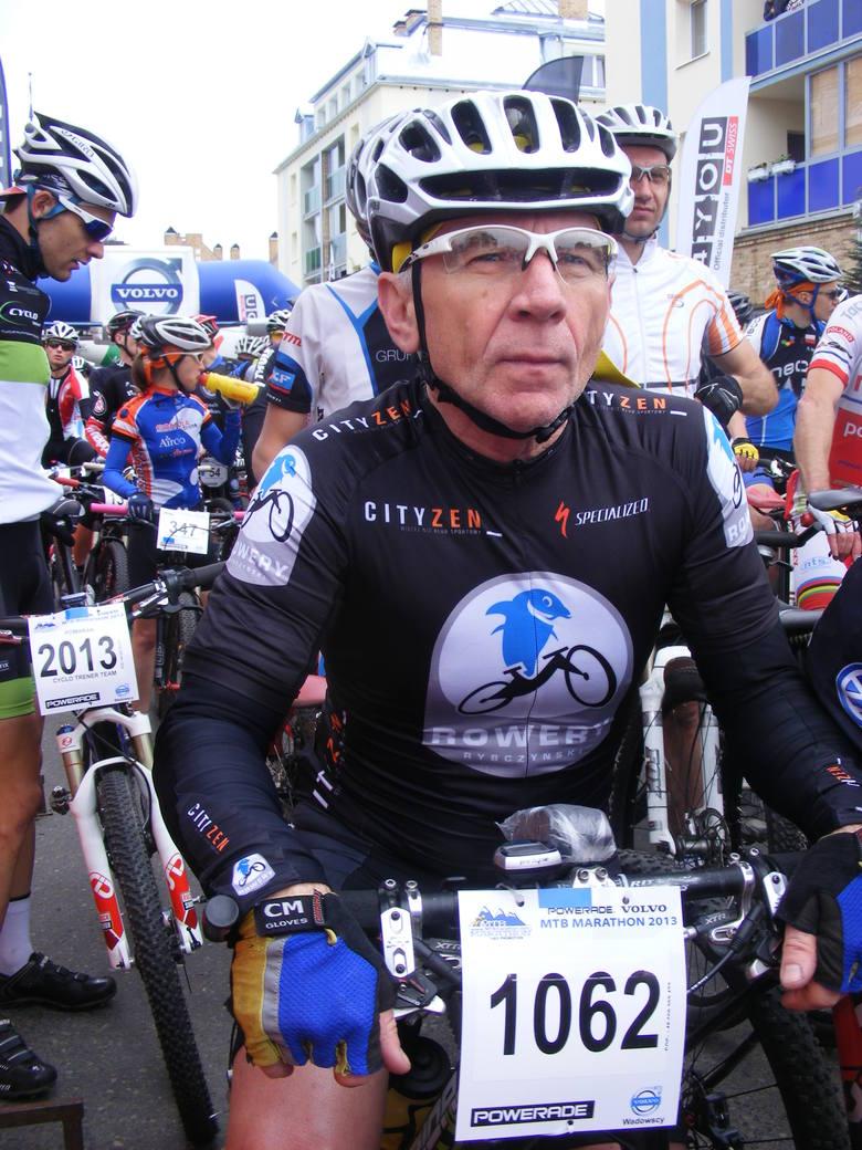 Grzegorz Napierała, jeden z najbardziej doświadczonych kolarzy  górskich z Poznania.